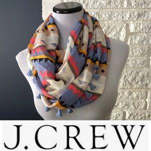 J. Crew Tassel Infinity Scarf